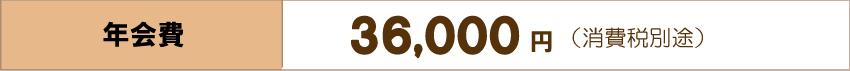 年間費36,000円(消費税別途)